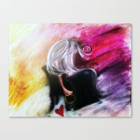 wasted rita Canvas Prints featuring Wasted  by Dismantled Art by Jaime R. Haywood