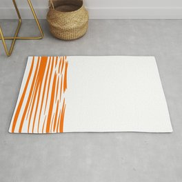 Lines gold on white. Exotic lines Rug