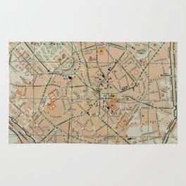 Vintage Map of Milan Italy (1911) Rug