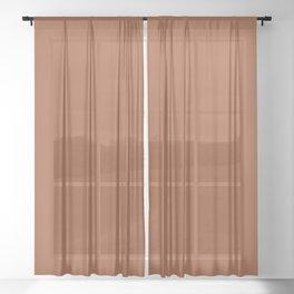 Kauai Soil Clay Terracotta Rust Solid  Sheer Curtain