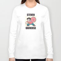 steven universe Long Sleeve T-shirts featuring Steven by ZoeStanleyArts