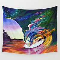 psycho Wall Tapestries featuring Psycho Wave by Terrel