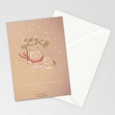 Christmas creatures- Kitties in love Stationery Cards
