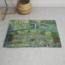Claude Monet The Japanese Footbridge and the Waterlily Pool at Giverny 1899 Rug