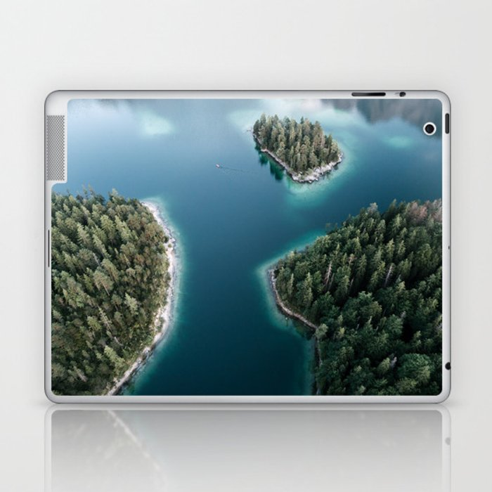 Lakeside Views at Sunset - Landscape Photography Laptop & iPad Skin