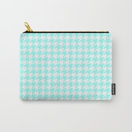 Aquamarine Houndstooth Carry-All Pouch