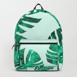 Composition tropical leaves XIX Backpack