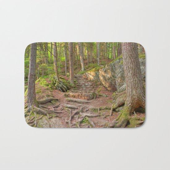 Green Mountain Forest Trail Bath Mat