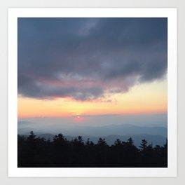 Smoky Mountain Sunset Art Print