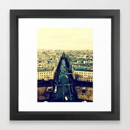 View of Champs-Élysées - Paris Framed Art Print