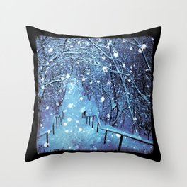 the blues of winter Throw Pillow