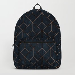 Gold Art deco on Navy ink Backpack
