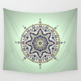 Heart Moon Star Mandala Wall Tapestry