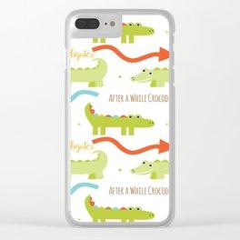 Alligator Crocodile Clear iPhone Case