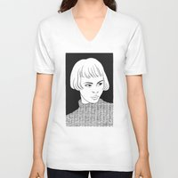 chic V-neck T-shirts featuring Chic Lady by Cannibal Malabar