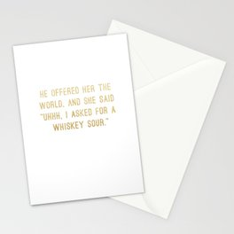Whiskey Sour Stationery Cards