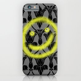 Sherlock smiling wall iPhone Case