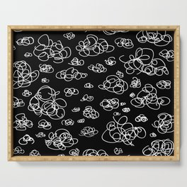 A Squiggle Sky Inverse Serving Tray