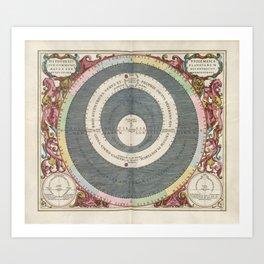 Keller's Harmonia Macrocosmica - Ptolemaic Model of the Solar System 1661 Art Print