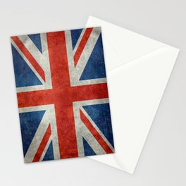 UK flag - High Quality Bright retro 1:2 Scale Stationery Cards