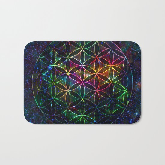 Flower of Life in the Universe - Universe in the Flower of Life Bath Mat