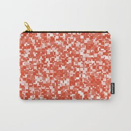 Tangerine Tango Pixels Carry-All Pouch