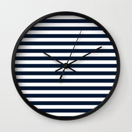 STRIPES DESIGN (NAVY BLUE-WHITE) Wall Clock