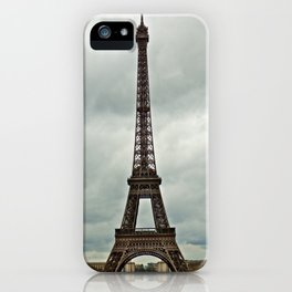 Eiffel Tower on a Cloudy Day iPhone Case
