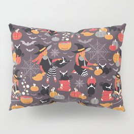 Enchanted Vintage Halloween Spell Pillow Sham