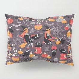 Enchanted Vintage Halloween Spell Pillow Sham