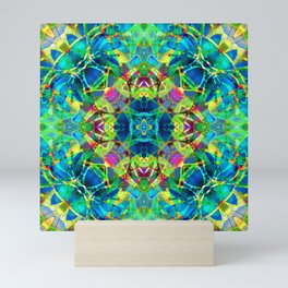 kaleidoscope Crystal Abstract G116 Mini Art Print