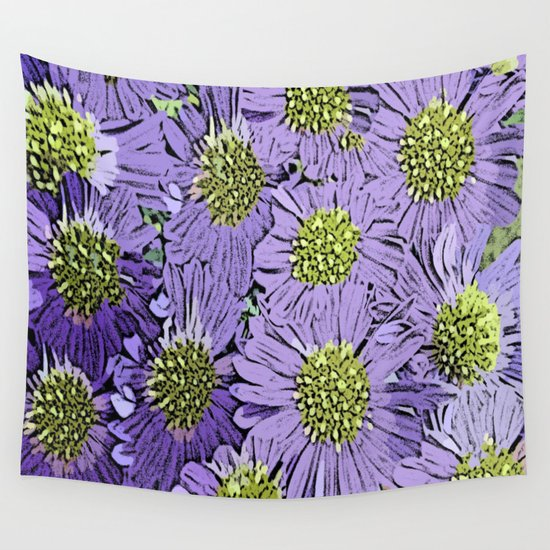 Vintage Floral Explosion Wall Tapestry By Judy Palkimas