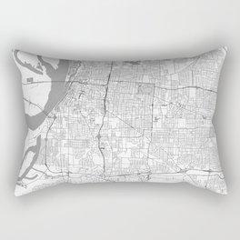 Memphis Map Line Rectangular Pillow