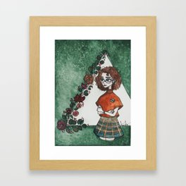 Birdie the Botanist Framed Art Print