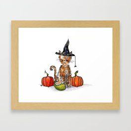 Alley Cat Haloween Framed Art Print