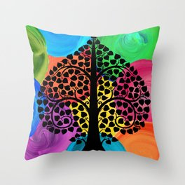 Bodhi Tree0208 Throw Pillow