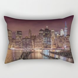 NEW YORK CITY Nightly Impressions | Panoramic Rectangular Pillow