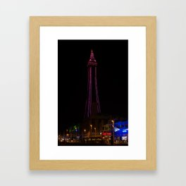 Blackpool tower pink Framed Art Print