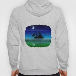 Sailing On A Sea of Green. Hoody
