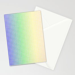 Rainbow Dot Perforations Stationery Cards