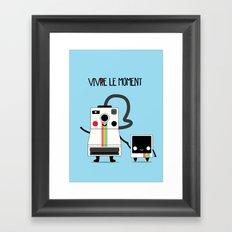 Vivre le moment Framed Art Print