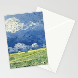 Vincent van Gogh - Wheatfield Under Thunderclouds Stationery Cards