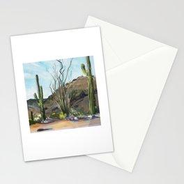 Desert Saguaros Stationery Cards