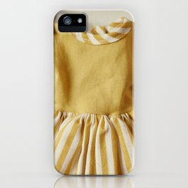 Doll Closet Series - Mustard Stripe Dress iPhone Case