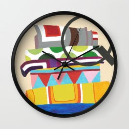 Q is for Quilt Wall Clock