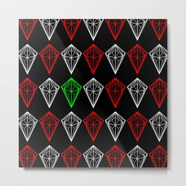 Diamonds Rubies and sapphire Metal Print