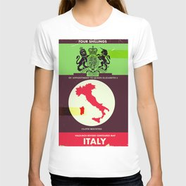 Vintage style Italy Map poster. T-shirt