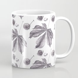 Floral pattern horse-chestnut Coffee Mug