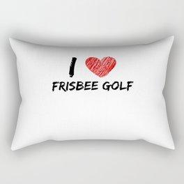 I Love Frisbee Golf Rectangular Pillow