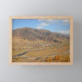 autumn Altai Mountains Framed Mini Art Print